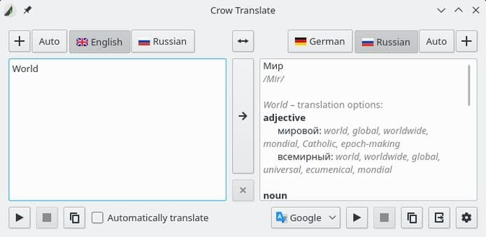 Como instalar o tradutor Crow Translate no Ubuntu, Debian e derivados