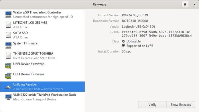 GNOME Firmware chegou para facilitar a atualização de firmware no Linux