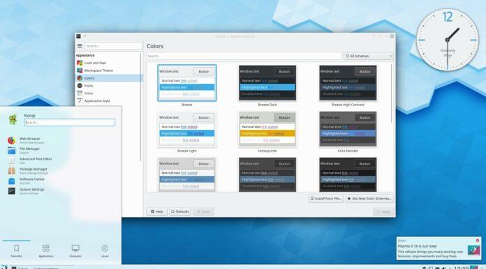 KDE Plasma 5.16.5 lançado e a série 5.16 chegou ao fim de sua vida útil