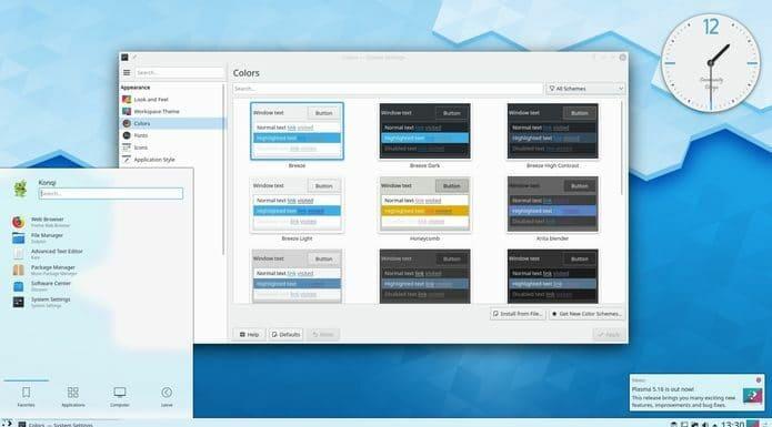 KDE Plasma 5.18 será a próxima série LTS e virá em fevereiro de 2020