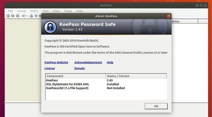 KeePass 2.43 lançado com melhorias de interface do usuário e integração