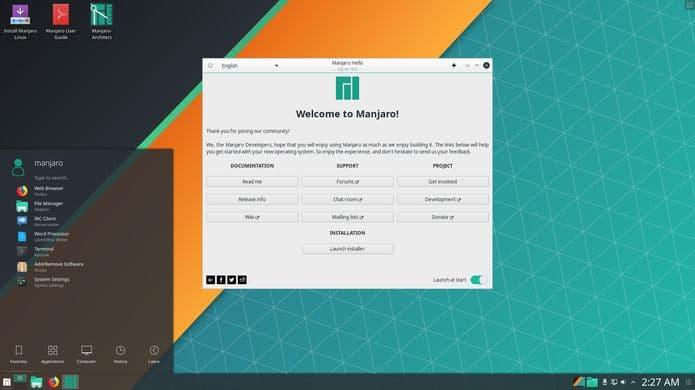Manjaro 18.1 lançado com opção de escolha de suíte de escritório
