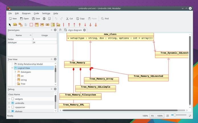 Como instalar o modelador UML Umbrello no Linux via Snap