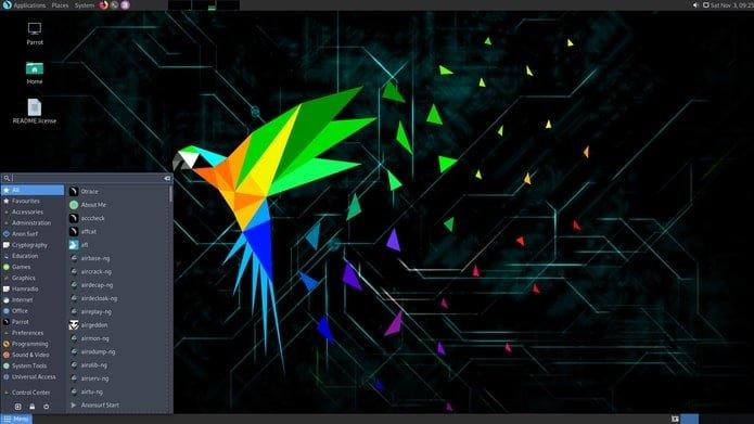 Parrot 4.7 lançado com menu pen-testing remodelado e mais