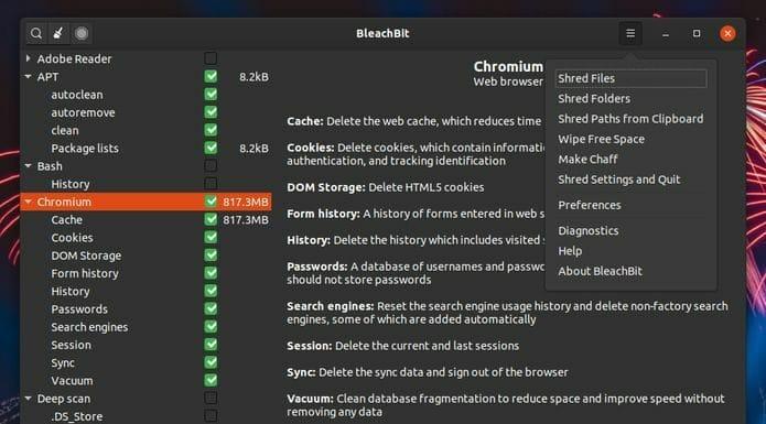 BleachBit 2.3 lançado com GTK+ 3 e varredura de arquivos mais rápida