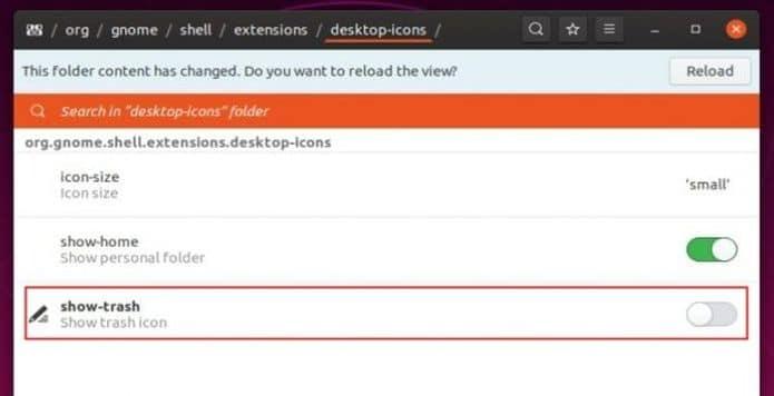 Como adicionar o ícone da lixeira no painel lateral no Ubuntu 19.10