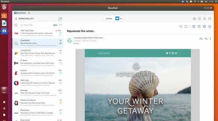 Como instalar o cliente de e-mail BlueMail no Linux via Snap