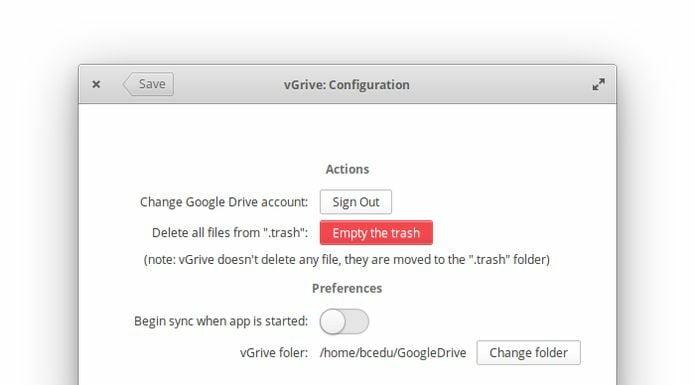 Como instalar o cliente Google Drive VGrive no Ubuntu, Mint, Debian e derivados