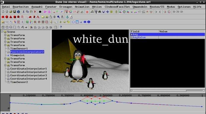 Como instalar o editor X3D/VRML White Dune no Linux via Snap