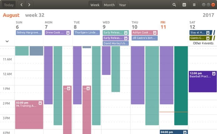 Como instalar o GNOME Calendar no Linux via Snap