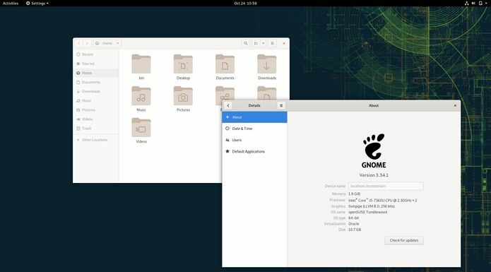 GNOME 3.34 já chegou ao openSUSE Tumbleweed rolling