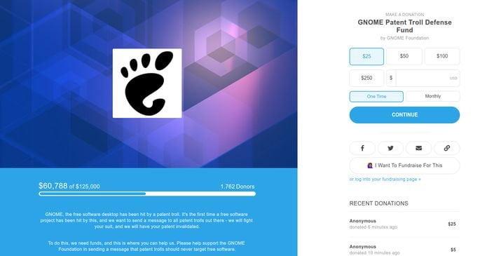 Gnome criou o GNOME Patent Troll Defense Fund para enfrentar os trolls de patentes