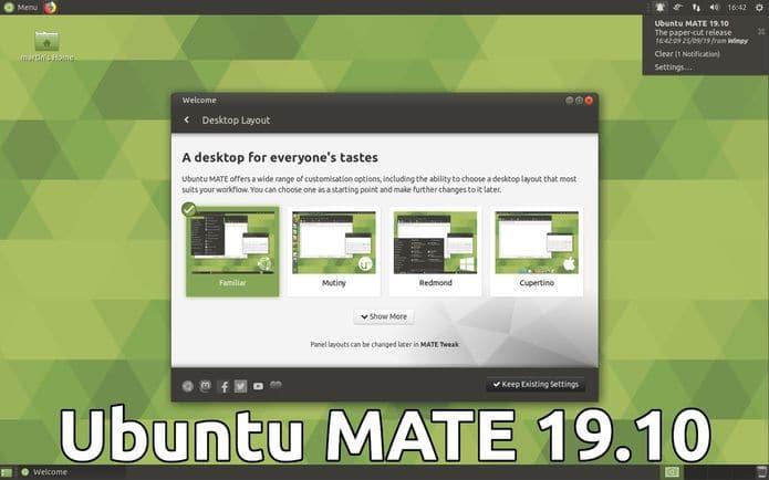 Ubuntu MATE 19.10 lançado com o mais recente MATE Desktop e novos aplicativos