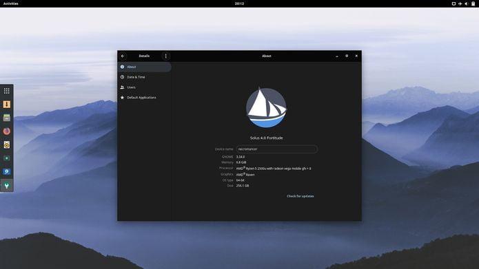 Usuários do Solus 4 estão entre os primeiros a usar o GNOME 3.34