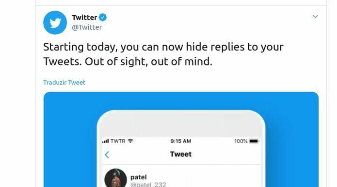 Agora você pode ocultar respostas dos seus tweets
