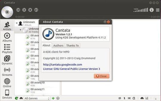 Como instalar o cliente MPD Cantata no Linux via AppImage