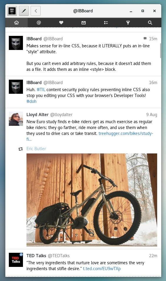 Como instalar o cliente Twitter Cawbird no Linux via Flatpak