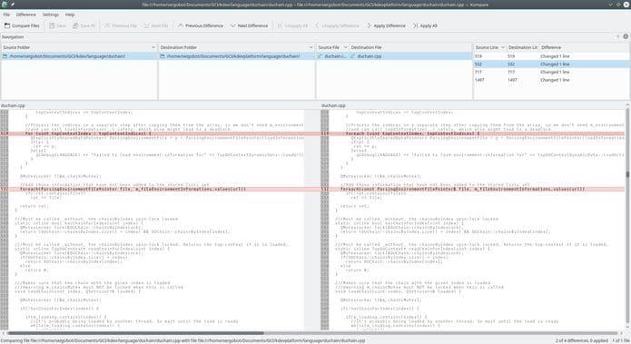 Como instalar o comparador de arquivos Kompare no Linux via Snap