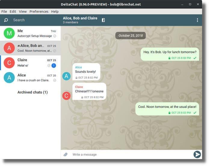 Como instalar o mensageiro Delta Chat no Linux via Flatpak