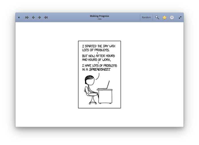 Como instalar o visualizador de quadrinhos xkcd Comic Sticks no Linux via Snap