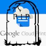 Google encerrará o serviço Cloud Print até o final do ano de 2020