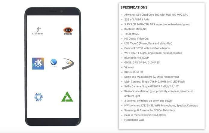 PinePhone já está disponível para pré-venda agora
