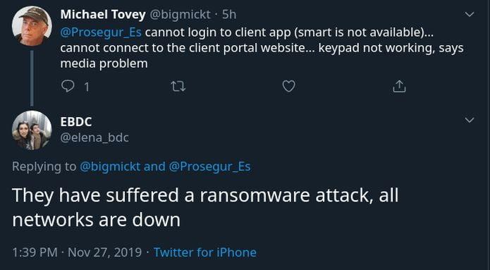 Ransomware Ryuk forçou uma empresa de segurança a desligar sua rede