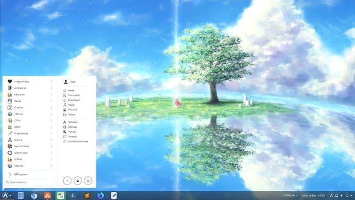 ArcMenu 38 lançado com três novos layouts no estilo do Budgie, Windows 10 e KRunner