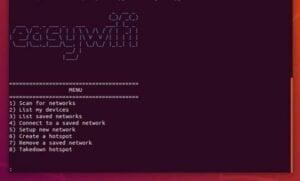 Como instalar a ferramenta Easywifi no Linux para escanear/conectar redes Wi-Fi