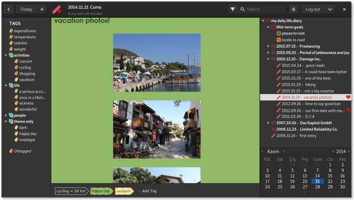 Como instalar o app de diário Lifeograph no Linux via Flatpak