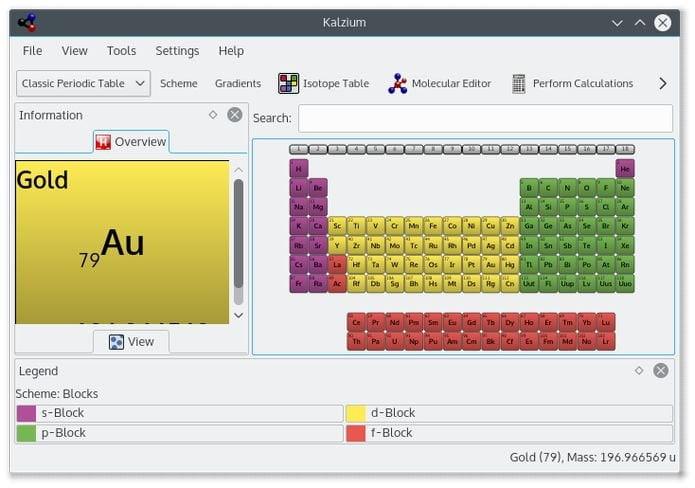 Como instalar o app de tabela periódica Kalzium no Linux via Flatpak