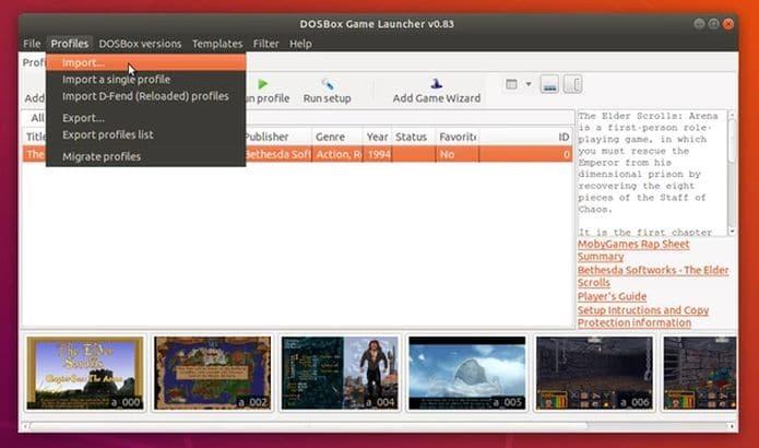 Como instalar o DBGL DOSBox Game Launcher no Ubuntu e derivados