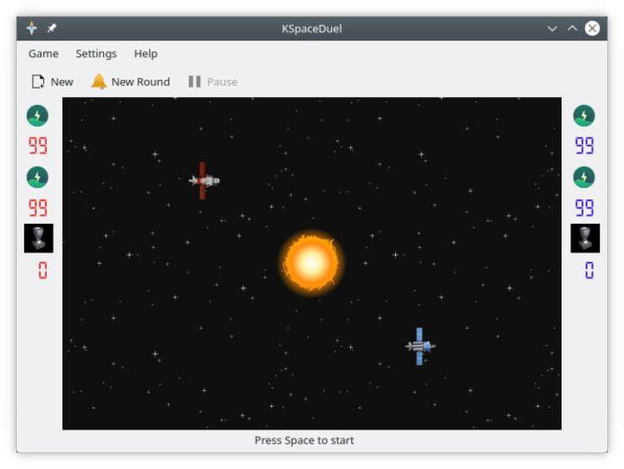Como instalar o divertido jogo KSpaceDuel no Linux via Snap