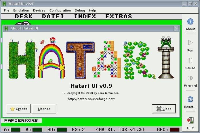 Como instalar o emulador Atari Hatari no Linux via Snap
