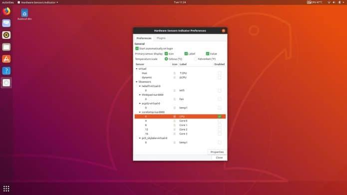 Como instalar o Hardware Sensors Indicator no Linux via Snap