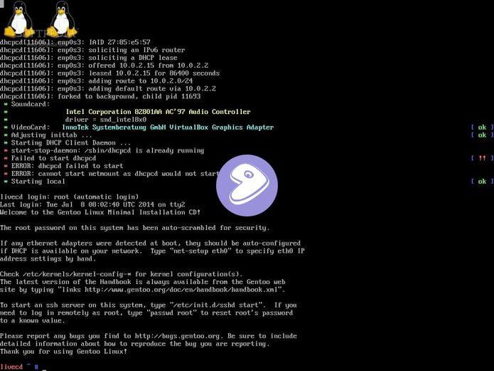 Gentoo poderá fornecer pacotes de kernel genéricos