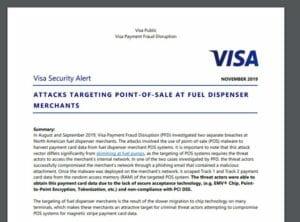 Malware em postos de gasolina - VISA denunciou um novo tipo de ataque