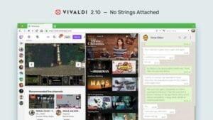 Vivaldi 2.10 lançado com uma melhoria na compatibilidade com sites