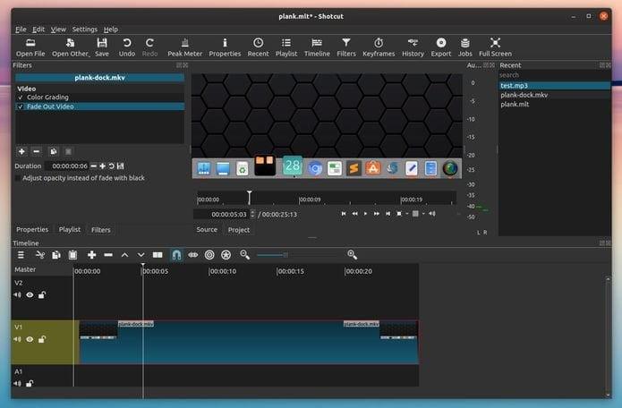 Shotcut 19.12 lançado com uma linha do tempo mais flexível e outros recursos