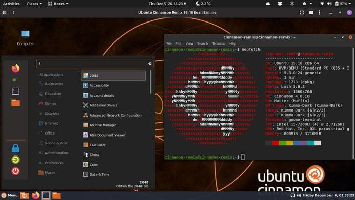 Ubuntu Cinnamon Remix já está disponível para download