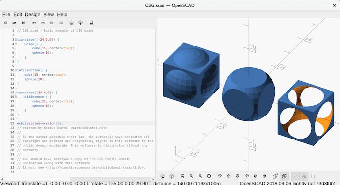 Como instalar modelador 3D OpenSCAD Nightly no Linux via Snap