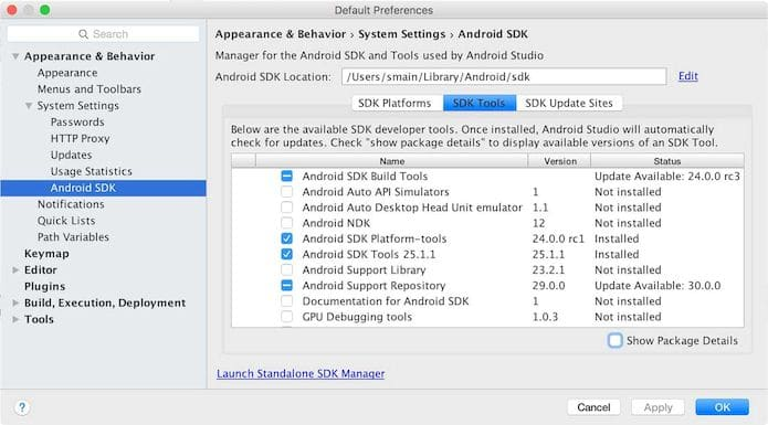 Como instalar o Android SDK Manager no Linux via Snap