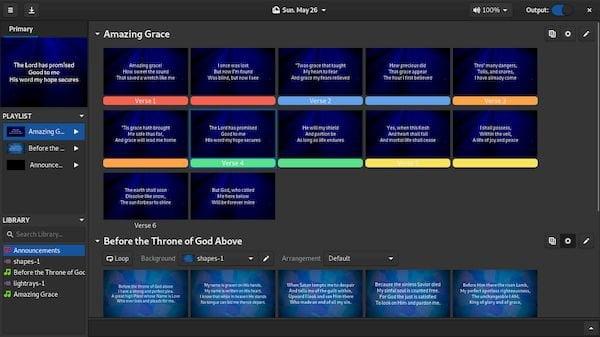 Como instalar o apresentador de mídia e letras Floodlight no Linux