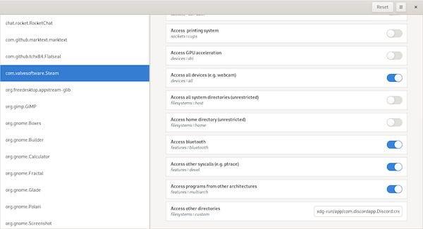 Como instalar o gerenciador de permissões Flatpak Flatseal no Linux