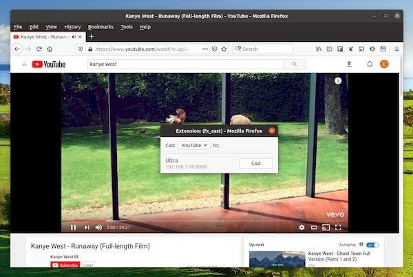 fx_cast 0.0.5 lançada com suporte ao YouTube e legendas para mídia local