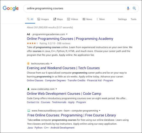 Google removeu a alteração que deixava os resultados da pesquisa parecidos com anúncios