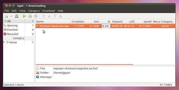 Como instalar o gerenciador de downloads uGet no Linux via Snap