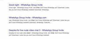 Links de convite para grupos do WhatsApp e Telegram estão disponíveis na web