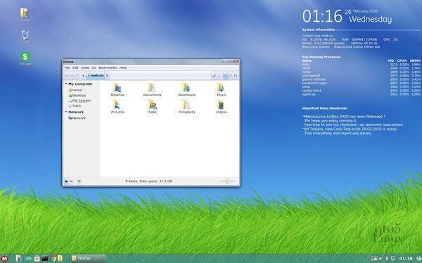 MakuluLinux 2020 quer levar os usuários do Windows 7 para o Linux