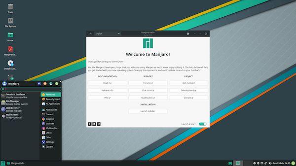 Manjaro Linux 19 lançado com kernel 5.4 LTS e outras novidades